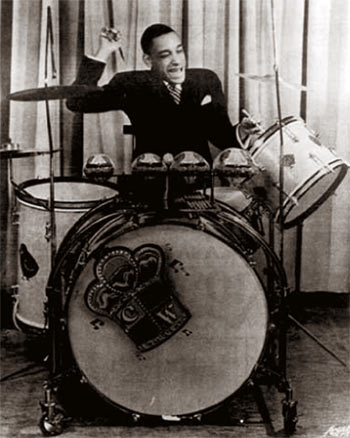biography of drummer chick webb Watch video ella fitzgerald biography born in 1917,  she soon met bandleader and drummer chick webb and eventually joined his group as a singer.