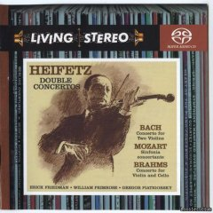 Heifetz / Bach, Mozart, Brahms ‎– Double Concertos / Concertos For Two Violins / Sinfonia Concertante / Concerto For Violin And Cello (1956-1960-1961/2006) [SACD-R] [DST64 (iso)](кликните для просмотра полного изображения)