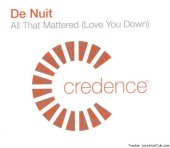 De Nuit - All That Mattered (Love You Down) (2002) [FLAC (tracks + .cue)]